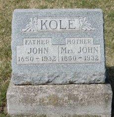 KOLE, JOHN - Marion County, Iowa | JOHN KOLE