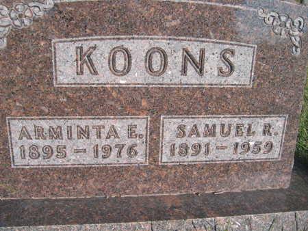 KOONS, ARMINTA E - Marion County, Iowa | ARMINTA E KOONS