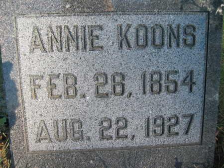 KOONS, ANNIE - Marion County, Iowa | ANNIE KOONS