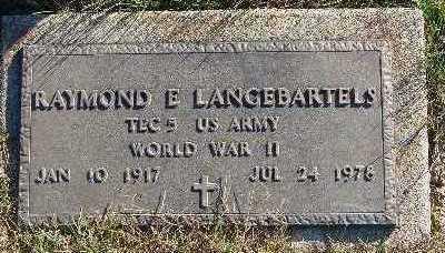 LANGEBARTELS, RAYMOND E. - Marion County, Iowa | RAYMOND E. LANGEBARTELS