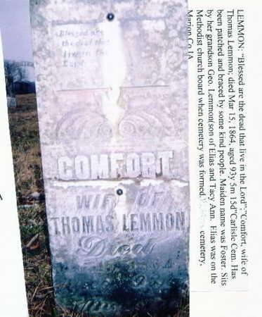 FOSTER LEMMON, COMFORT - Marion County, Iowa | COMFORT FOSTER LEMMON