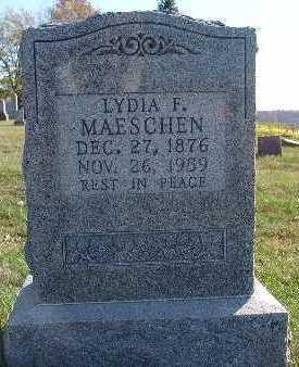 MAESCHEN, LYDIA F. - Marion County, Iowa   LYDIA F. MAESCHEN