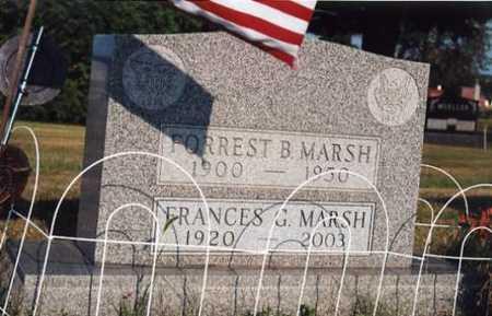 MARSH, FORREST BURRIS - Marion County, Iowa   FORREST BURRIS MARSH
