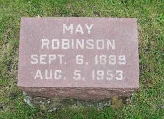 ROBINSON, MAY - Marion County, Iowa | MAY ROBINSON