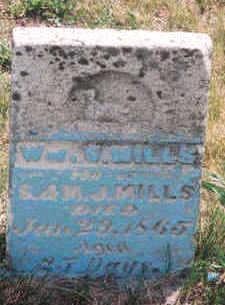 MILLS, WILLIAM S - Marion County, Iowa | WILLIAM S MILLS