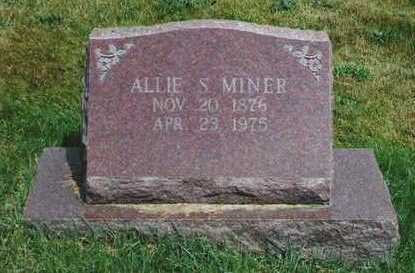 MINER, ALLIE S - Marion County, Iowa | ALLIE S MINER