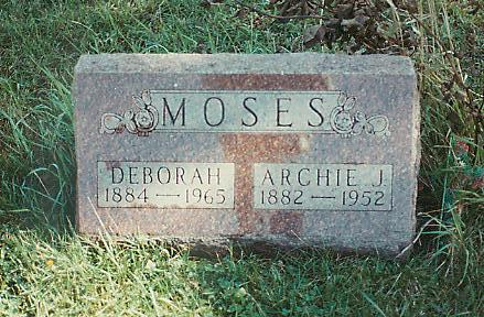 MOSES, ARCHIE JOHN - Marion County, Iowa | ARCHIE JOHN MOSES