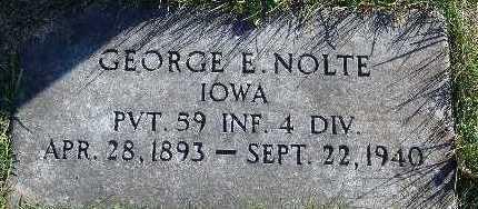 NOLTE, GEORGE E. - Marion County, Iowa | GEORGE E. NOLTE