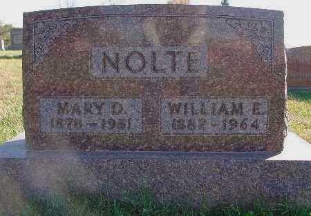 NOLTE, WILLIAM E. - Marion County, Iowa | WILLIAM E. NOLTE
