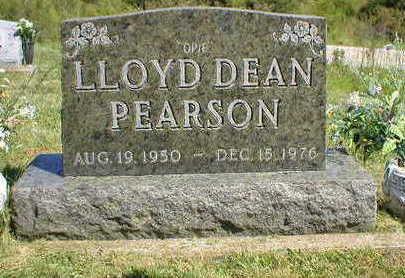PEARSON, LLOYD DEAN - Marion County, Iowa | LLOYD DEAN PEARSON