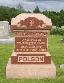 BROWN POLSON, MARY C. - Marion County, Iowa | MARY C. BROWN POLSON