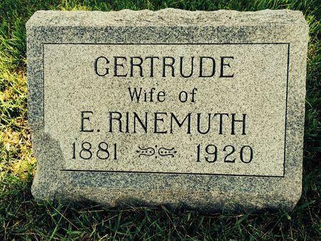 RINEMUTH, GERTRUDE - Marion County, Iowa | GERTRUDE RINEMUTH