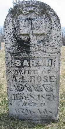 ROSE, SARAH - Marion County, Iowa | SARAH ROSE