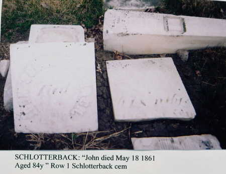 SCHLOTTERBACK, JOHN - Marion County, Iowa   JOHN SCHLOTTERBACK