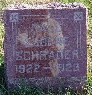 SCHRADER, DALE EUGENE - Marion County, Iowa   DALE EUGENE SCHRADER