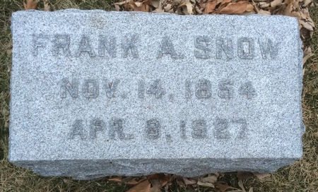 SNOW, FRANK A. - Marion County, Iowa | FRANK A. SNOW