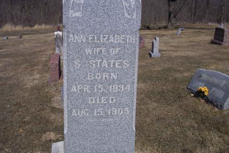 STATES, ANN ELIZABETH - Marion County, Iowa | ANN ELIZABETH STATES