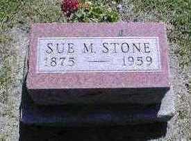 SUE M, STONE - Marion County, Iowa | STONE SUE M