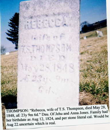 THOMPSON, REBECCA - Marion County, Iowa | REBECCA THOMPSON