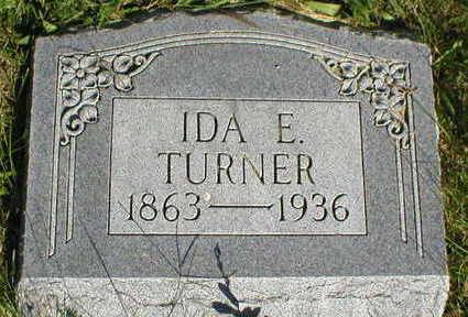 TURNER, IDA E, - Marion County, Iowa | IDA E, TURNER