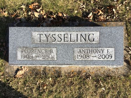 TYSSELING, FLORENCE B. - Marion County, Iowa | FLORENCE B. TYSSELING