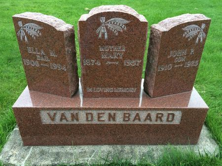 VAN DEN BAARD, MARY - Marion County, Iowa | MARY VAN DEN BAARD
