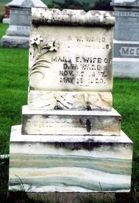 BURNETT WARD, MARY ELIZABETH - Marion County, Iowa | MARY ELIZABETH BURNETT WARD