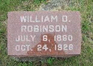 ROBINSON, WILLIAM O. - Marion County, Iowa | WILLIAM O. ROBINSON