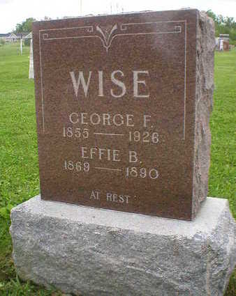 WISE, EFFIE B. - Marion County, Iowa | EFFIE B. WISE