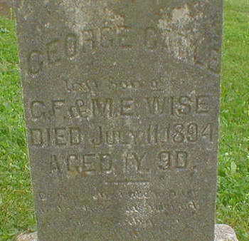 WISE, GEORGE CABLE - Marion County, Iowa | GEORGE CABLE WISE
