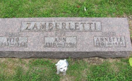 ZAMBERLETTI, ANN - Marion County, Iowa | ANN ZAMBERLETTI