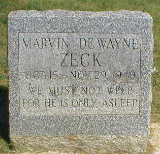 ZECK, MARVIN DE WAYNE - Marion County, Iowa | MARVIN DE WAYNE ZECK