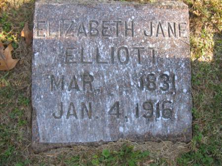 ELLIOTT, ELIZABETH JANE - Marshall County, Iowa | ELIZABETH JANE ELLIOTT