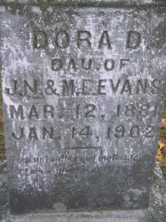 EVANS, DORA D - Marshall County, Iowa   DORA D EVANS