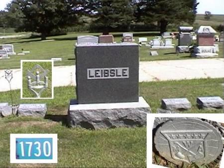 LEIBSLE, FAMILY MARKER - Marshall County, Iowa   FAMILY MARKER LEIBSLE
