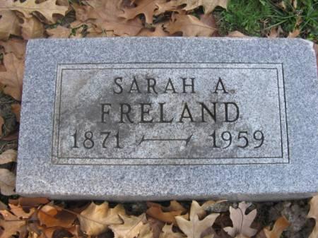 FRELAND, SARAH A - Marshall County, Iowa | SARAH A FRELAND