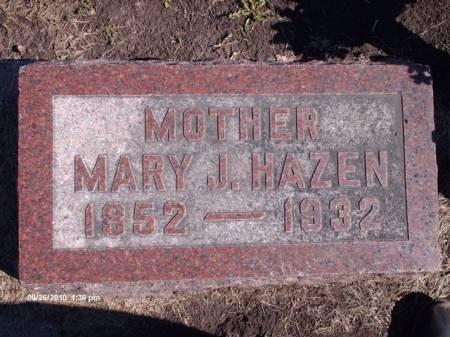 HAZEN, MARY JANE - Marshall County, Iowa | MARY JANE HAZEN