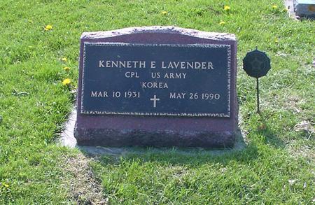 LAVENDER, KENNETH E. - Marshall County, Iowa | KENNETH E. LAVENDER