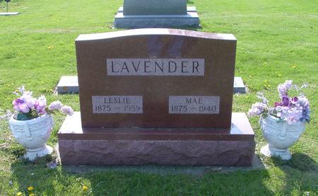 LAVENDER, MAE - Marshall County, Iowa | MAE LAVENDER