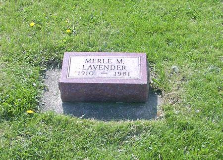 LAVENDER, MERLE M. - Marshall County, Iowa | MERLE M. LAVENDER