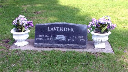 LAVENDER, R. BROOK - Marshall County, Iowa | R. BROOK LAVENDER