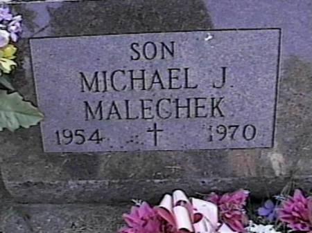 MALECHEK, MICHAEL JAY - Marshall County, Iowa | MICHAEL JAY MALECHEK