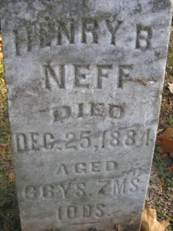 NEFF, HENRY B - Marshall County, Iowa | HENRY B NEFF