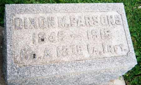 PARSONS, DIXON F. - Marshall County, Iowa | DIXON F. PARSONS