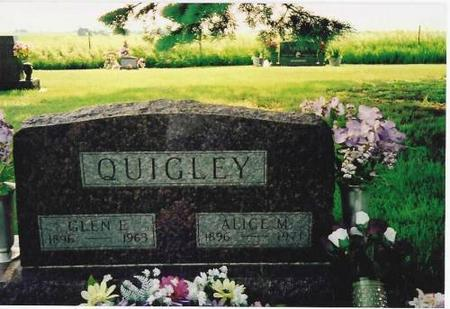 QUIGLEY, GLEN E. & ALICE M. - Marshall County, Iowa | GLEN E. & ALICE M. QUIGLEY