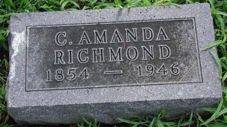 RICHMOND, CHARLOTTE AMANDA - Marshall County, Iowa | CHARLOTTE AMANDA RICHMOND