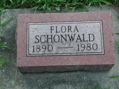 SCHONWALD, FLORA (RICHMOND) - Marshall County, Iowa | FLORA (RICHMOND) SCHONWALD