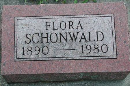 RICHMOND SCHONWALD, FLORA - Marshall County, Iowa | FLORA RICHMOND SCHONWALD