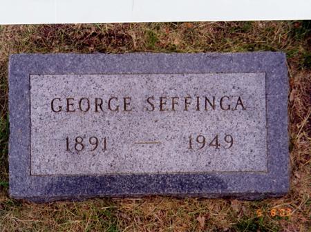SEFFINGA, GEORGE - Marshall County, Iowa | GEORGE SEFFINGA