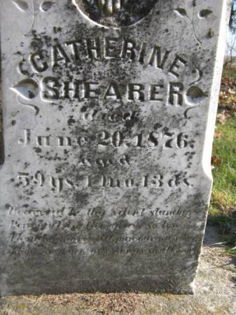 SHEARER, CATHERINE - Marshall County, Iowa | CATHERINE SHEARER